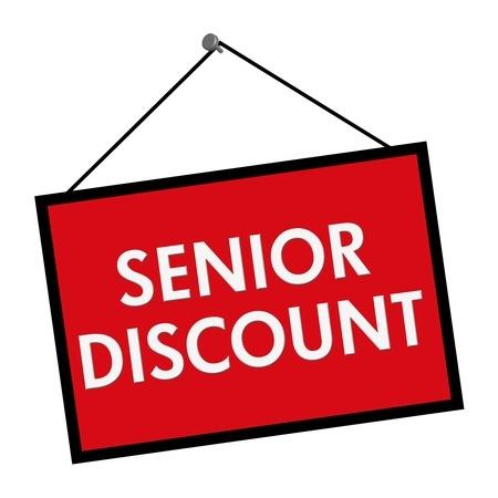 Sign, reading senior discount