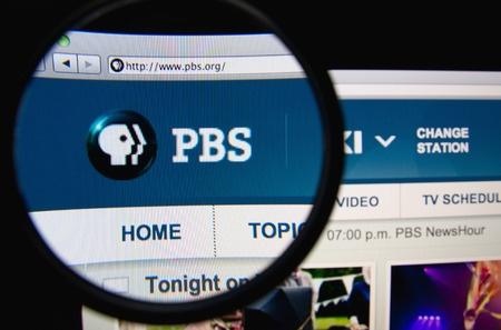 A screen-shot of the PBS website