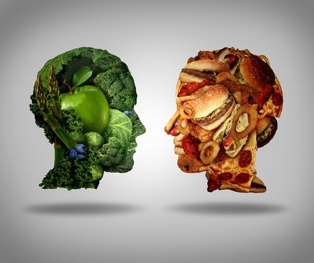 abstract image of healthy vs unhealthy lifestyle