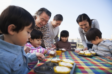 35987829 - birthday part, multi-generation family